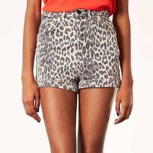 Topshop Moto Leopard Shorts